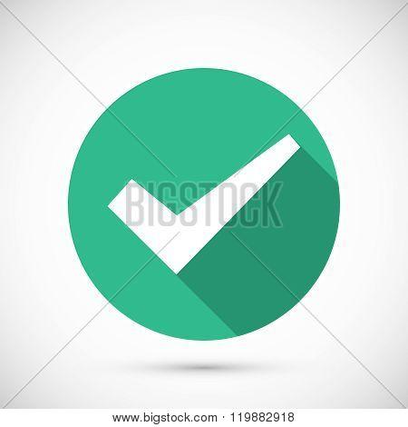 Tick icon flat