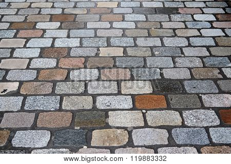 Background with the image of cobble-stone