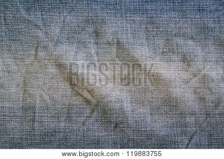 Blue Denim Jeans Texture, Vintage.
