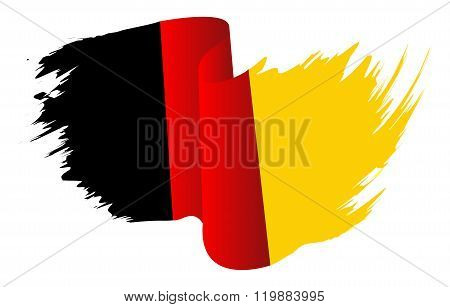 Germany Flag Vector Symbol Icon  Design. German Flag Color Illustration Isolated On White Background