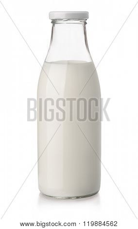 Milk bottle isolated on white