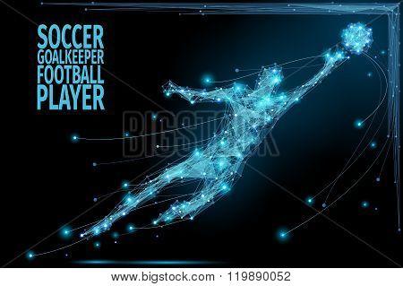 Goalkeeper poly soccer
