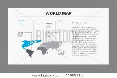 World map template 3