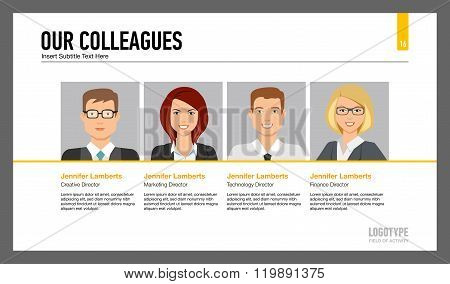 Colleagues of our company slide template