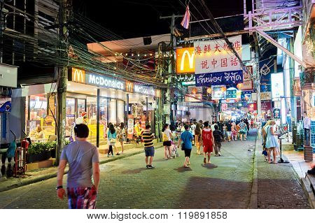 PATTAYA, THAILAND - FEBRUARY 18, 2016: exterior of McDonald's restaurant. McDonald's is the world's largest chain of hamburger fast food restaurants.