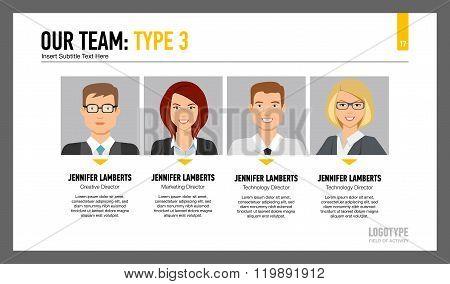 Members of our team slide