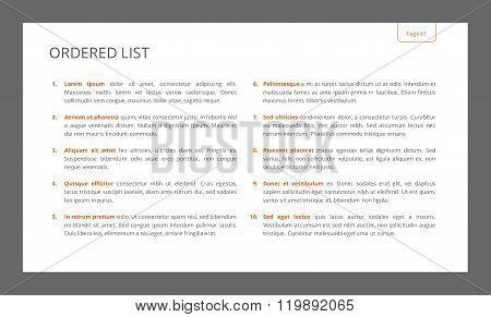 Ordered List Slide Template