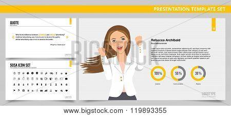 Presentation template set 18