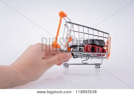 Cars In A Shopping A Cart
