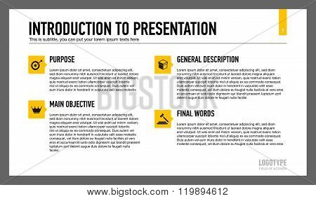 Introduction to presentation slide template