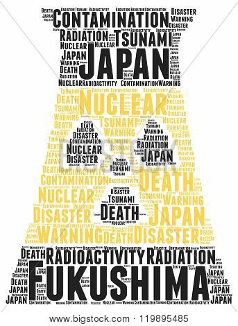 Fukushima word cloud concept