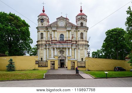 Catholic Church Of Holy Apostles Peter And Paul, Vilnius, Lithuania