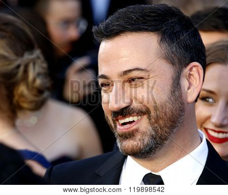 Jimmy Kimmel at the 88th Annual Academy Awards held at the Hollywood & Highland Center in Hollywood, USA on February 28, 2016.