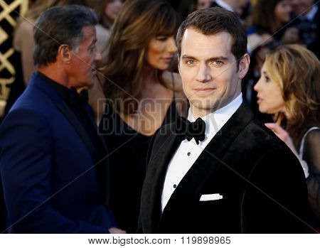 Henry Cavill at the 88th Annual Academy Awards held at the Hollywood & Highland Center in Hollywood, USA on February 28, 2016.