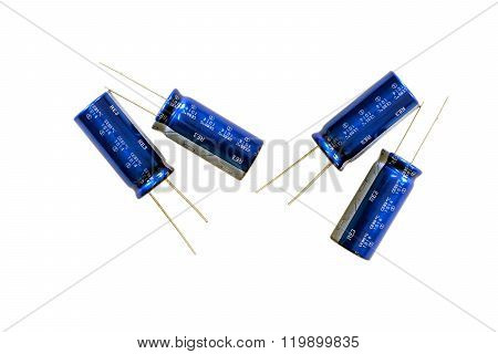 Group Of Capacitors.