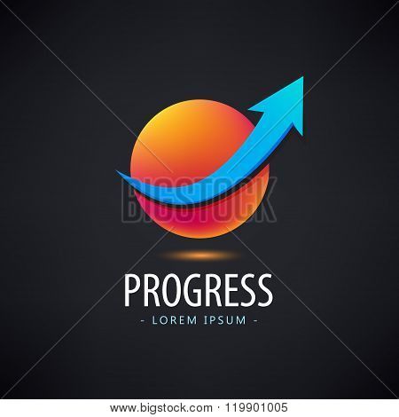 Vector progress logo, growth financial and business success