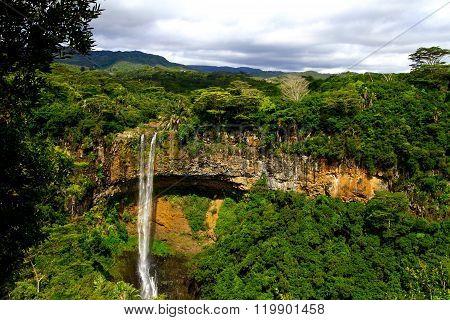 Tamarin waterfall in Mauritius