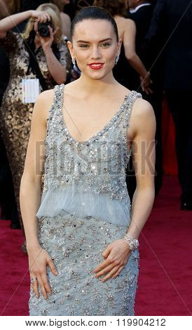 Daisy Ridley at the 88th Annual Academy Awards held at the Hollywood & Highland Center in Hollywood, USA on February 28, 2016.