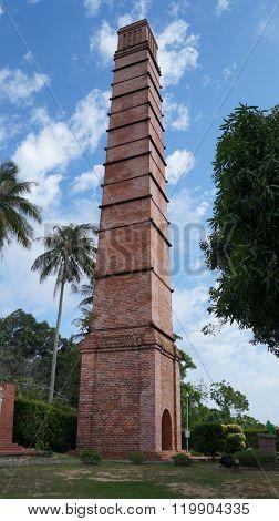 Old brick chimney in Labuan, Malaysia