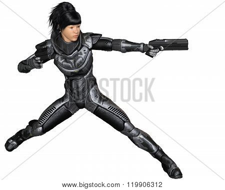 Future Soldier, Asian Female, Fighting