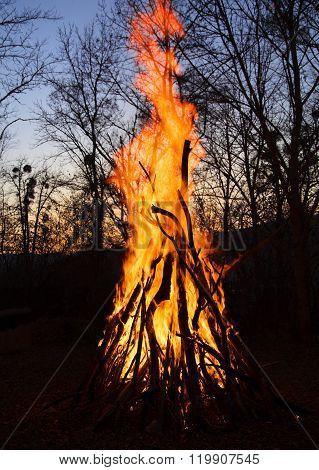 A Big Bonfire.