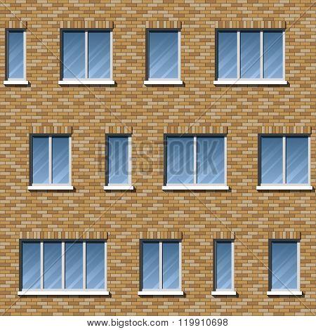 Brick facade pattern 2 color