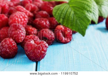 Ripe Tasty Raspberries