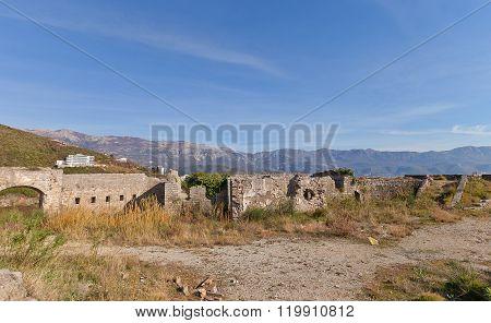 Ruins Of Mogren Fort (1860) Near Budva