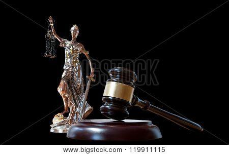 Themis Figurine And Gavel