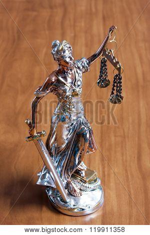 Silver Statuette Of Themis