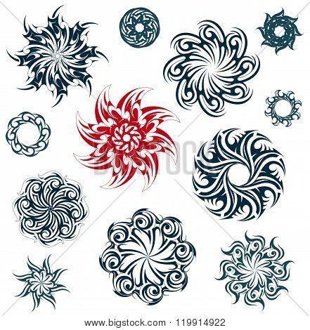 Set of ethnic ornaments