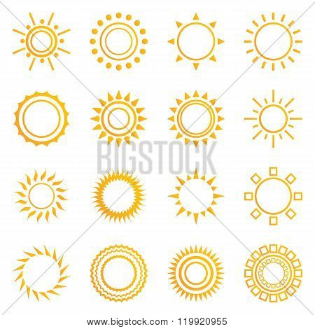 Set of vintage sunburst.