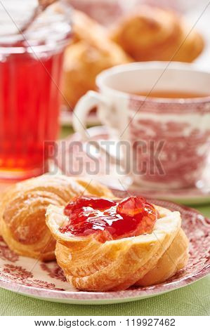 Part Of Croissant Greased Quince-cranberry Jelly