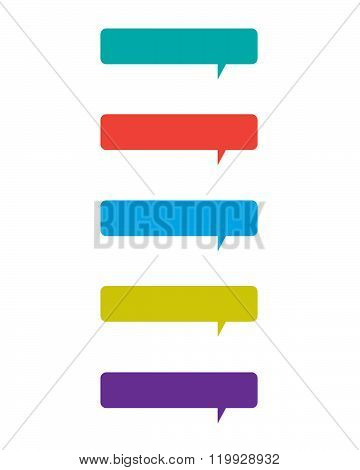A collection of colourful vector speech bubbles