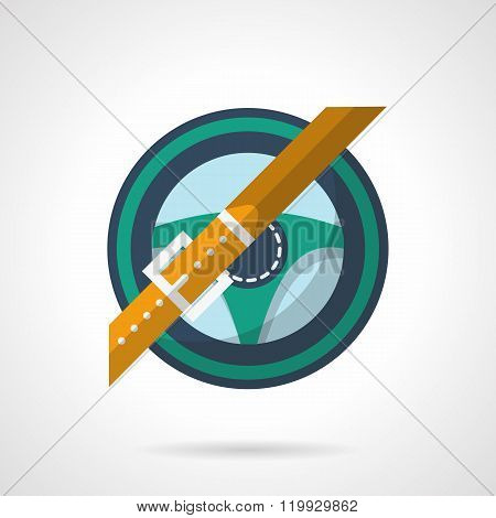 Driving flat color design vector icon