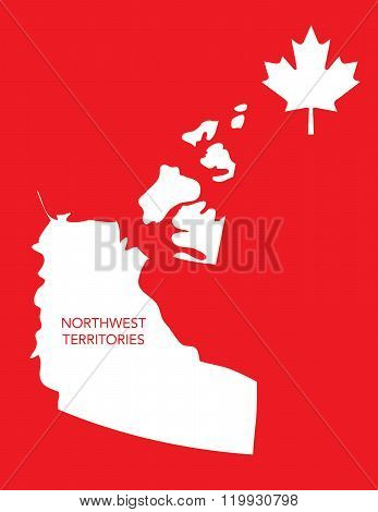 Vector Canadian Province Map - Northwest Territories