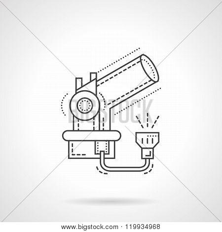 Telescope flat line design vector icon