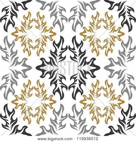 Seamless Background. White Wallpaper With Retro Pattern