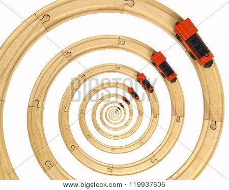 Steam Locomotive Toy Spiral Rails
