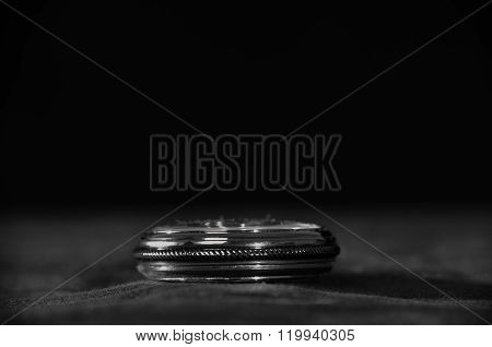 Pocket Watch Over Black