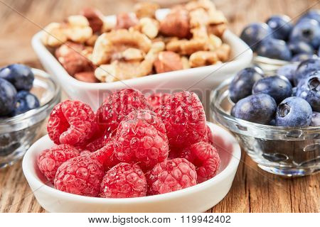 Super Food Breakfast With Berries And Nuts