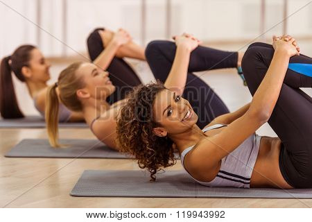 Girls In Fitness Class