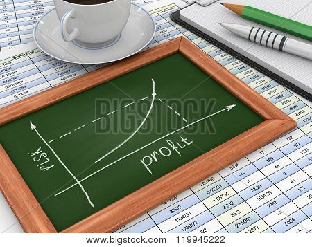 Blackboard with Graph
