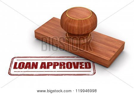 Stamp Loan Approved.  Image with clipping path