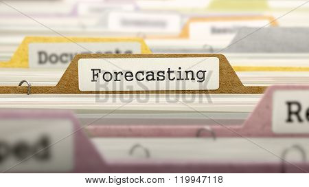 Forecasting on Business Folder in Catalog.