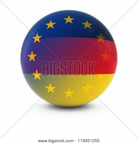 German And European Flag Ball - Fading Flags Of Germany And The Eu
