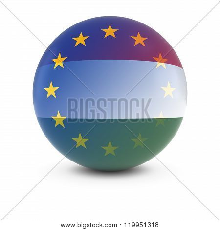 Hungarian And European Flag Ball - Fading Flags Of Hungary And The Eu