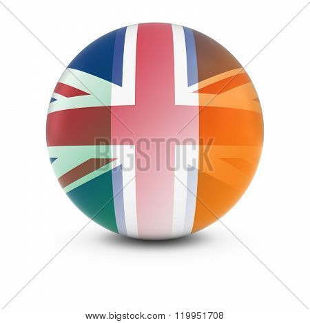 Irish And British Flag Ball - Fading Flags Of Ireland And The Uk