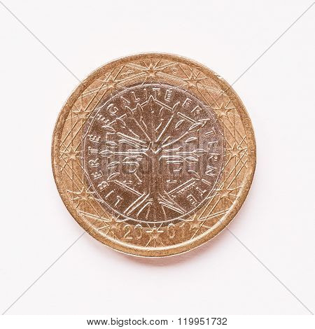 French 1 Euro Coin Vintage