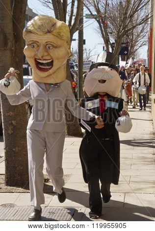 Hillary And Mr. Monopoly Being Overtaken By The Bern